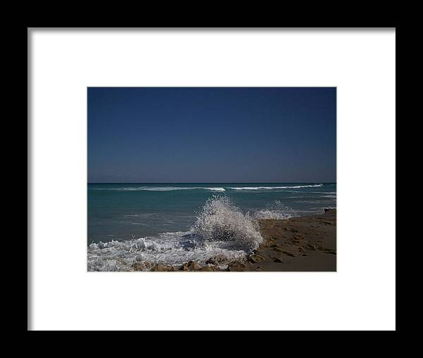 Ocean Framed Print featuring the photograph Ocean Spray by Karen Thompson