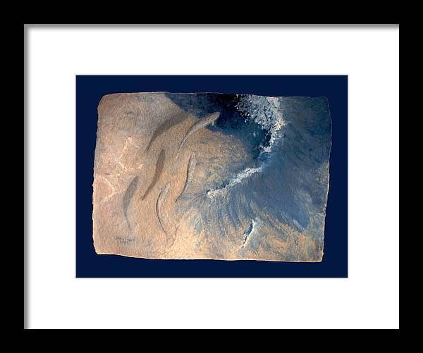 Seascape Framed Print featuring the painting Ocean by Steve Karol