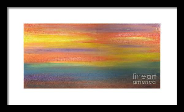 Ocean Framed Print featuring the painting Ocean Sunrise by Mark E Smith