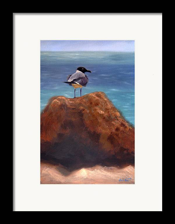 Oil Framed Print featuring the painting Ocean View by Greg Neal
