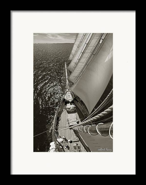 Wooden Ships Framed Print featuring the photograph Ocean View by Robert Lacy