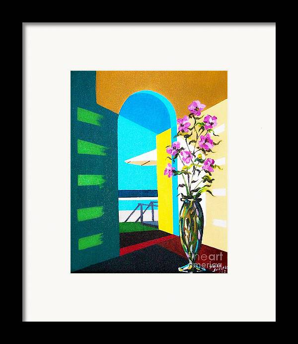 Still Life Framed Print featuring the painting Ocean View by Sinisa Saratlic