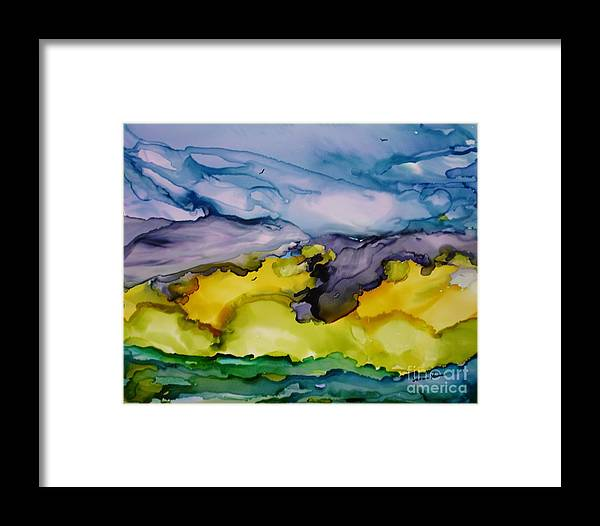 Landscape Framed Print featuring the painting Ocean View by Susan Kubes