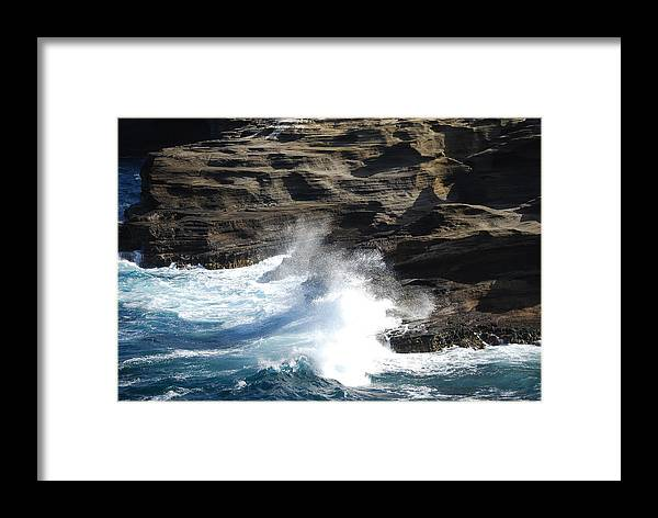 Oceans Framed Print featuring the photograph Oceans by Lakida Mcnair