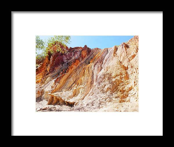 'australia Rocks' Series By Lexa Harpell Framed Print featuring the photograph Ochre Pits Colours, West Mcdonald Ranges by Lexa Harpell