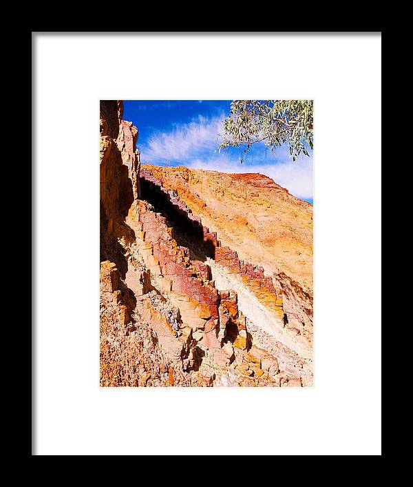 'australia Rocks' Series By Lexa Harpell Framed Print featuring the photograph Ochre Pits #3 - West Mcdonald Ranges by Lexa Harpell
