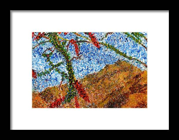 Watercolor Framed Print featuring the painting Ocotillo In Bloom by Cynthia Ann Swan