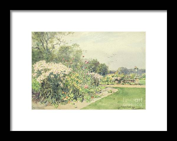October Framed Print featuring the painting October Flowers by Wilfred Williams Ball