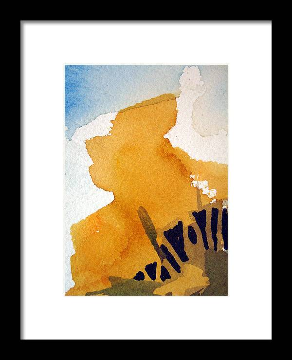 Aceo. Landscape Framed Print featuring the painting October Gold by Bill Meeker