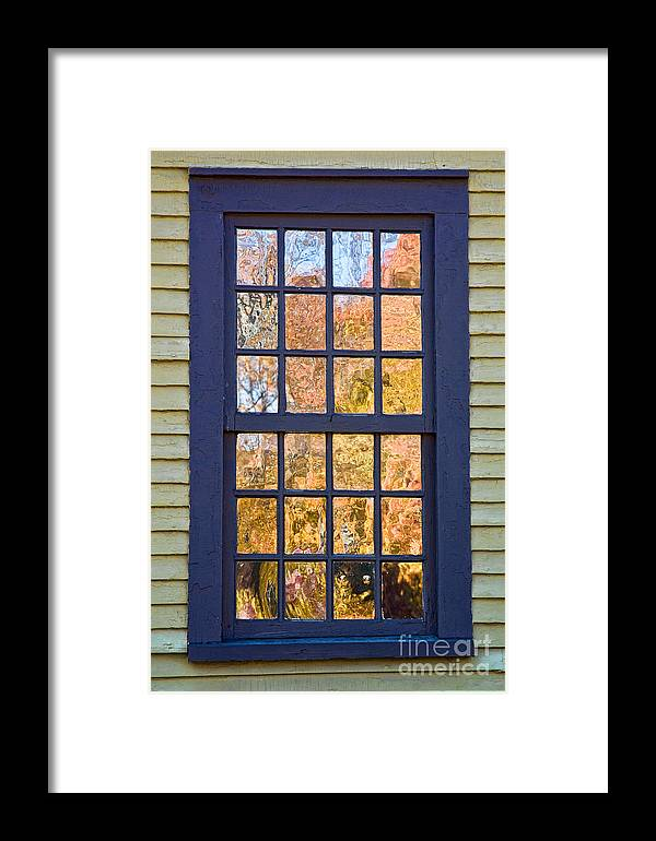 Colonial Framed Print featuring the photograph October Reflections 1 by Edward Sobuta