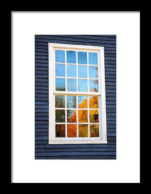 Colonial Framed Print featuring the photograph October Reflections 4 by Edward Sobuta