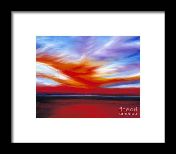 Seascape Framed Print featuring the painting October Sky II by James Christopher Hill
