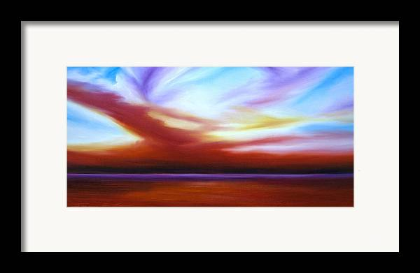 Skyscape Framed Print featuring the painting October Sky IIi by James Christopher Hill