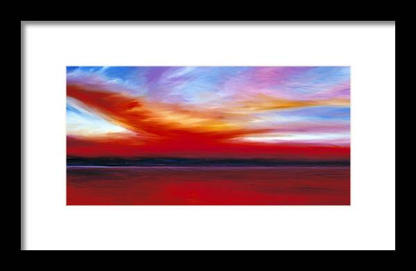 Clouds Framed Print featuring the painting October Sky by James Christopher Hill