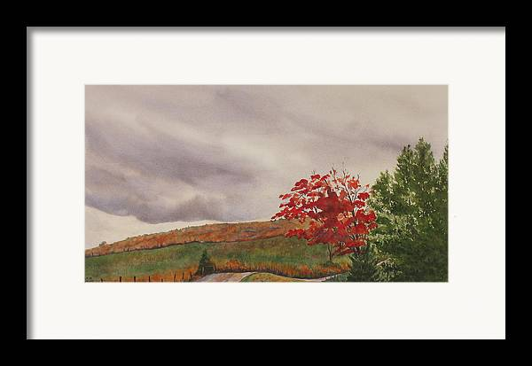 Dark Framed Print featuring the painting October Wind by Debbie Homewood