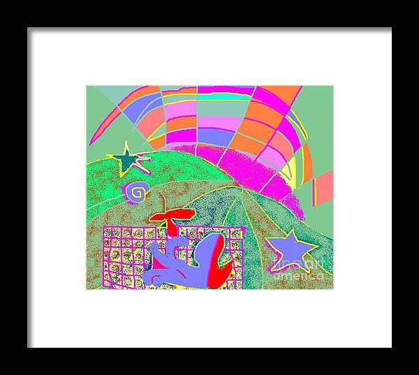 Greeting Card Framed Print featuring the digital art Octopus' Garden by Beebe Barksdale-Bruner