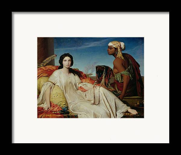 Odalisque Framed Print featuring the painting Odalisque by Francois Leon Benouville