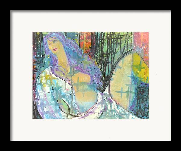 Painting Framed Print featuring the painting Odalisque by Todd Peterson