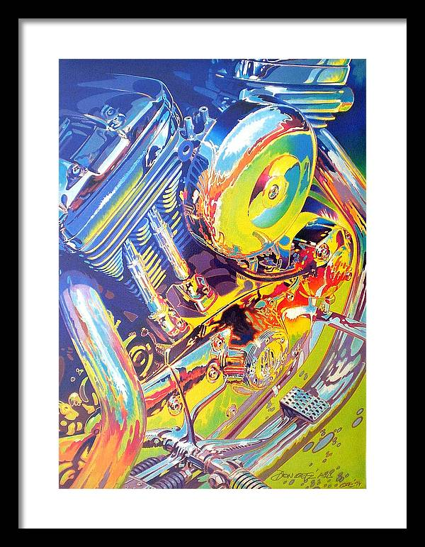 Automotive Art;watercolor;water Media;engine;impressionistic;car; Framed Print featuring the painting Ode To The Road by Don Getz