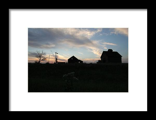 Abandon Framed Print featuring the photograph Odell Dusk by Dylan Punke