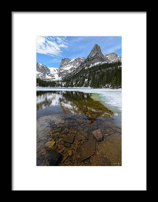 Odessa Lake Framed Print featuring the photograph Odessa Lake Vertical by Aaron Spong