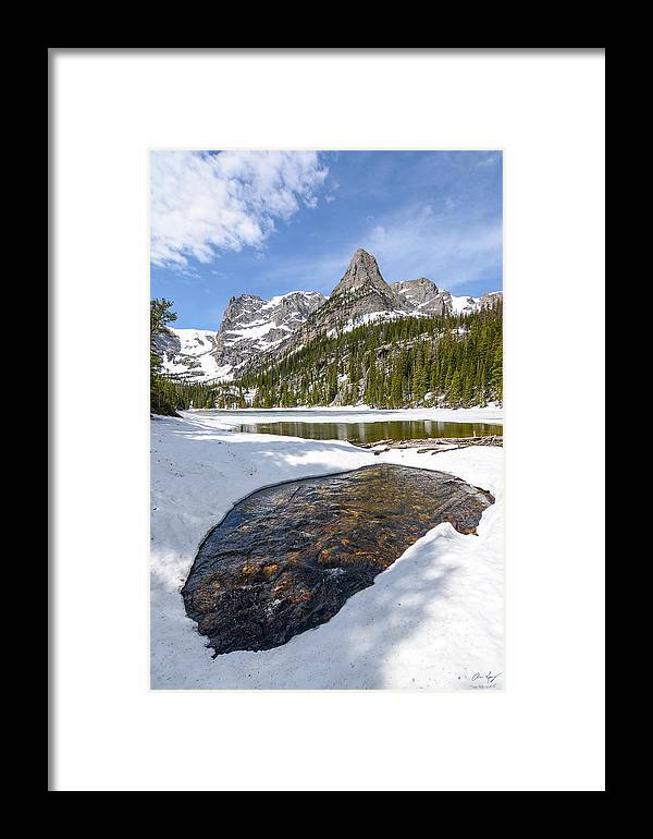 Odessa Framed Print featuring the photograph Odessa Snow Melt by Aaron Spong