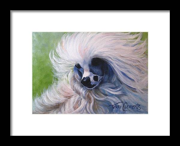 Dog Framed Print featuring the painting Odin In The Breeze by Terri Clements
