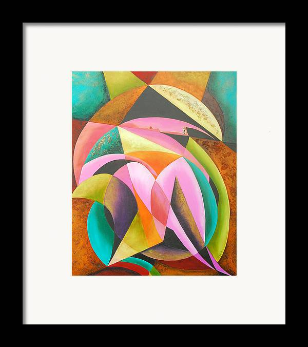 Abstract Expressionism Framed Print featuring the painting Odyssey Of Colors by Marta Giraldo