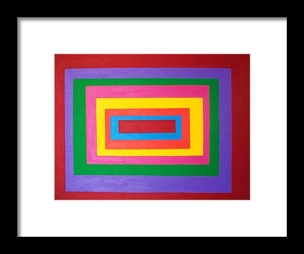Abstract Framed Print featuring the painting Of Equal Or Lesser Value by Ricky Gagnon