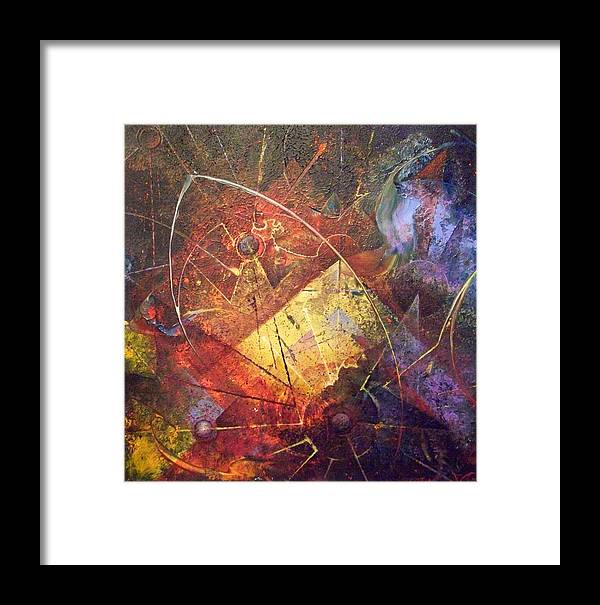 Abstract Framed Print featuring the painting Of Our Own Making by Fred Wellner