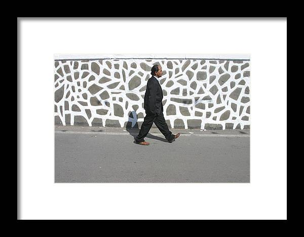Photographer Framed Print featuring the photograph Off In A Hurry by Jez C Self