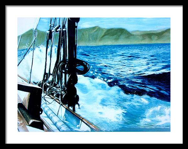 Seascape Framed Print featuring the painting Off Maui by Paul Miller