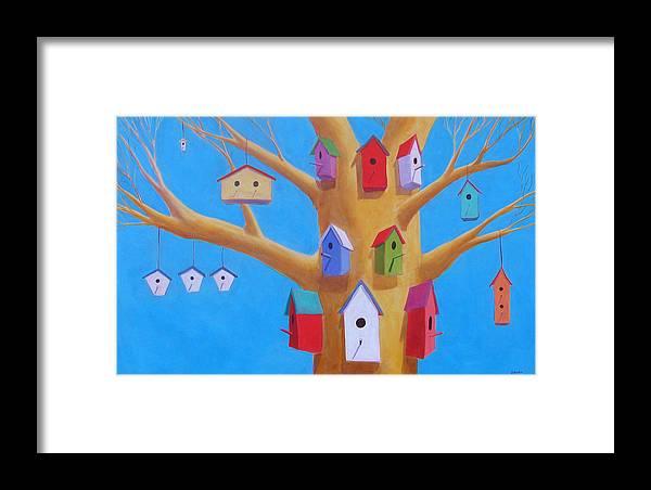 Bird House Framed Print featuring the painting Off Season 4 by Scott Gordon