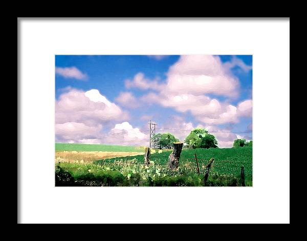 Landscape Framed Print featuring the photograph Off The Grid by Steve Karol