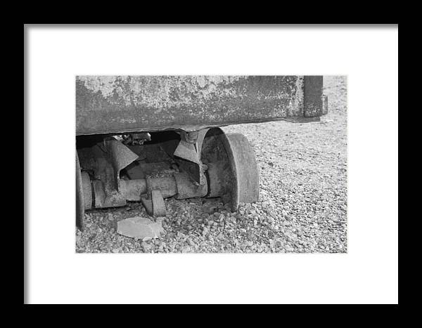 Equipment Framed Print featuring the photograph Off The Track by Doug Johnson