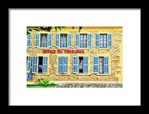 Office Du Tourisme Framed Print featuring the photograph Office du Tourisme by Kirsten Giving