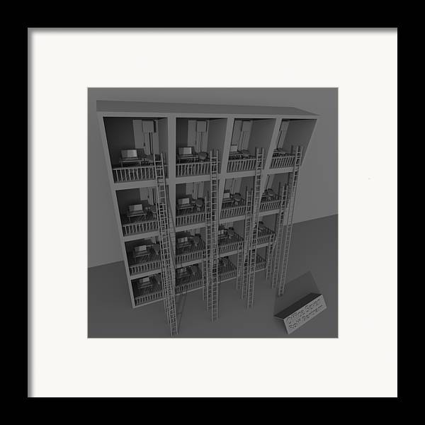 Insane Framed Print featuring the digital art Office Seven by Rolf Bertram