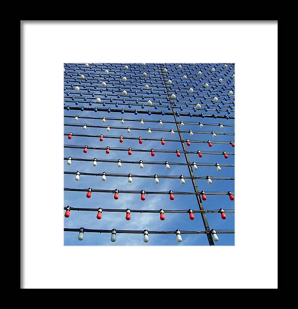 Light Bulbs Framed Print featuring the photograph Oh Beautiful For Spacious Bulbs by Timothy Smith