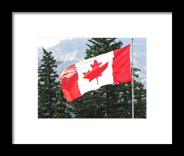 Flag Framed Print featuring the photograph Oh Canada by Sylvia Wanty