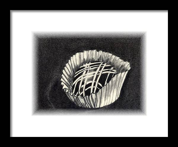 Food Framed Print featuring the drawing Oh Chocolate by Penny Everhart