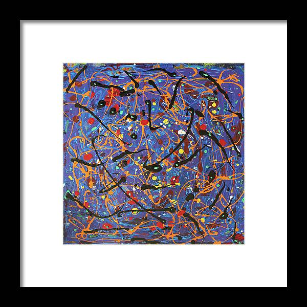 Blue Framed Print featuring the painting Oh Happy Day by Pam Roth O'Mara