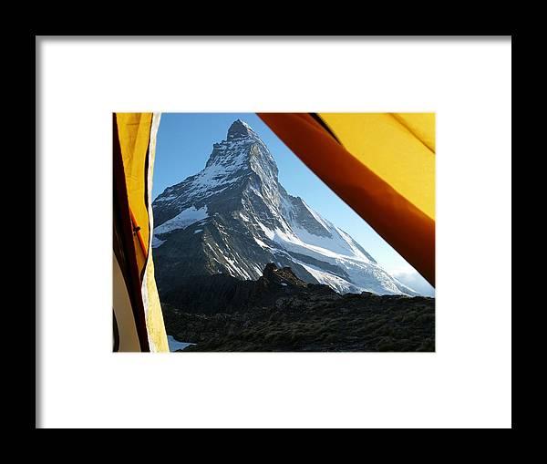 Matterhorn Framed Print featuring the photograph Matterhorn Camping by Two Small Potatoes