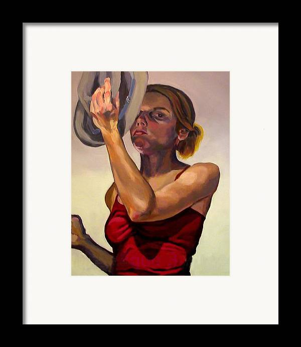 Portraits Framed Print featuring the painting Oh How The Tables Have Turned by Angelique Bowman