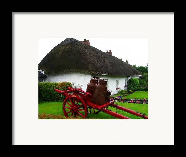 Framed Print featuring the painting Oh Ireland Where My Heart Lives by Jonathan Galente