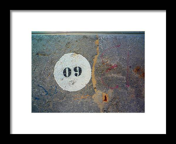 Number Framed Print featuring the photograph Oh Nine by Charles Stuart