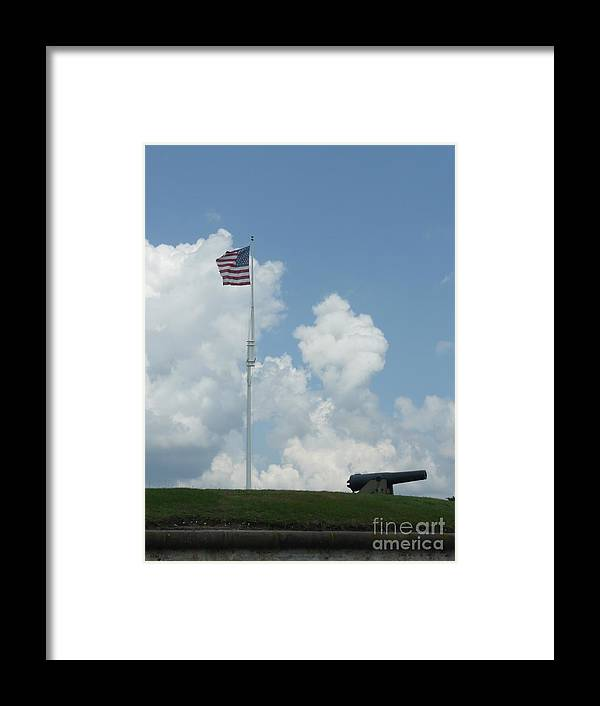 Flag Framed Print featuring the photograph Oh Say Can You See by Barb Montanye Meseroll