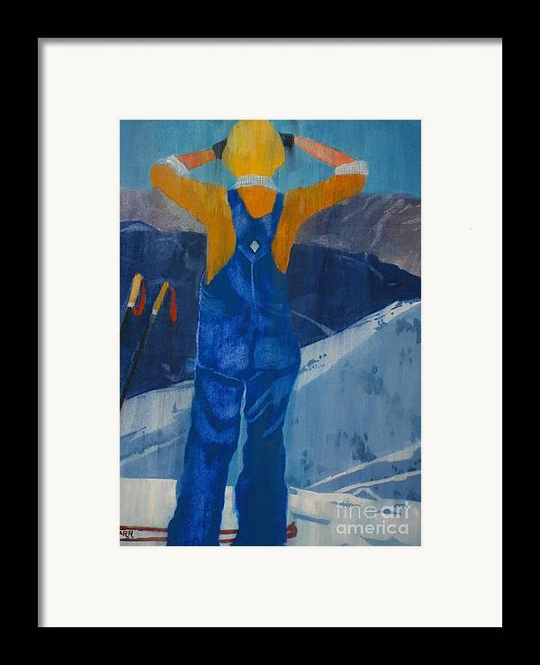 Ski Framed Print featuring the painting Oh Say Can You See by Elizabeth Carr