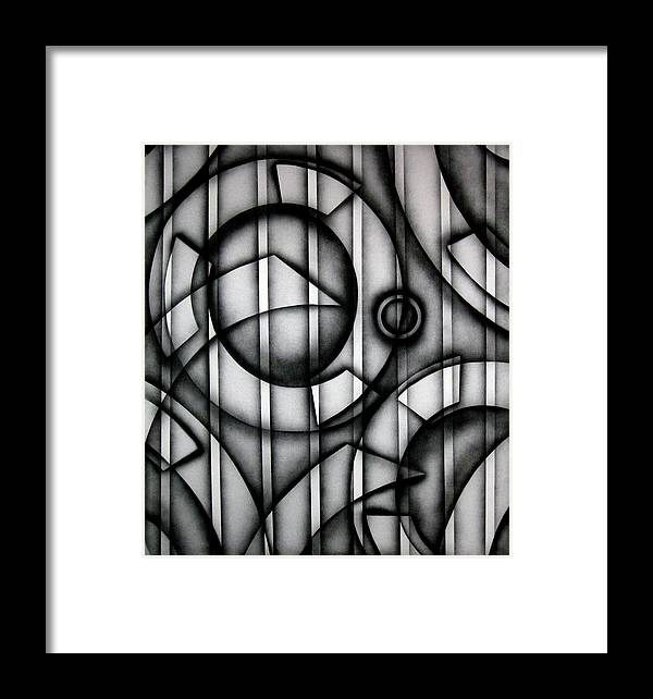 Contemporary Framed Print featuring the painting Oh See by Leigh Odom