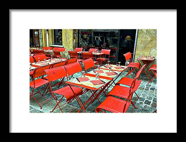 Lyon Framed Print featuring the photograph Oh Those French Cafes by Kirsten Giving