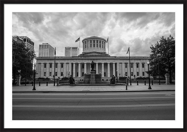 Ohio Statehouse Black and White by John McGraw